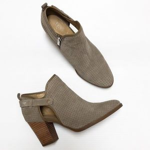 Franco Sarto perforated suede booties